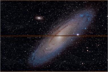Galaxie v Andromedě A - 20x30 - dřevo