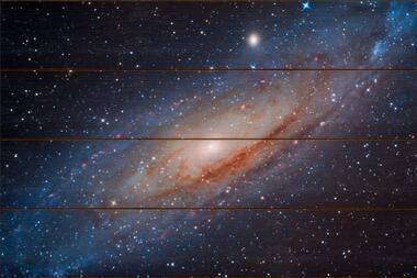 Galaxie v Andromedě A - 40x60 - dřevo