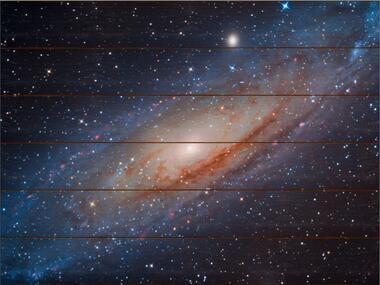 Galaxie v Andromedě A - 60x80 - dřevo