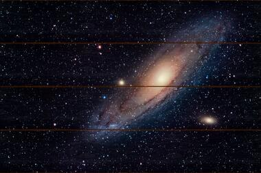 Galaxie v Andromedě B - 40x60 - dřevo