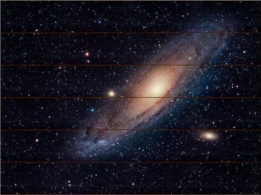 Galaxie v Andromedě B - 60x80 - dřevo