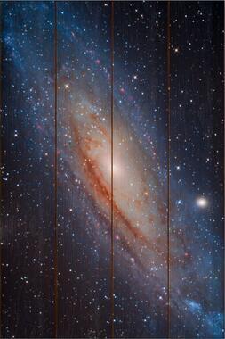 Galaxie v Andromedě C - 40x60 - dřevo