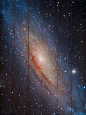 Galaxie v Andromedě C - 60x80 - dřevo