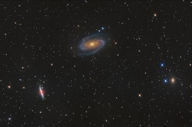 Skupina galaxií M81 A - 40x60 - plátno