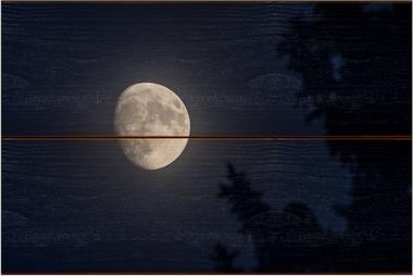 Měsíc A - 20x30 - dřevo