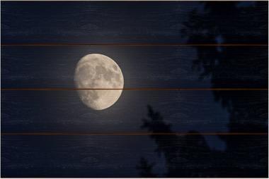 Měsíc A - 40x60 - dřevo