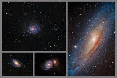 Kolekce spirálních galaxií A - 60x90 - plátno