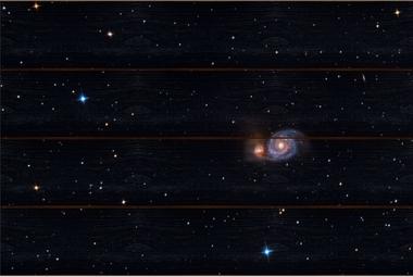 Vírová galaxie A - 40x60 - dřevo