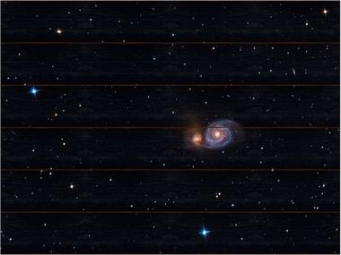 Vírová galaxie A - 60x80 - dřevo