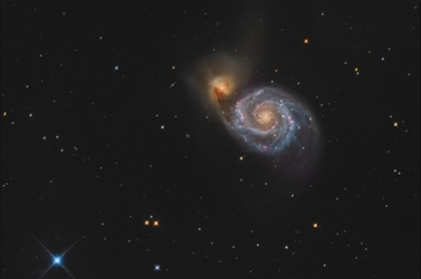 Vírová galaxie (M51) B - 40x60 - plátno