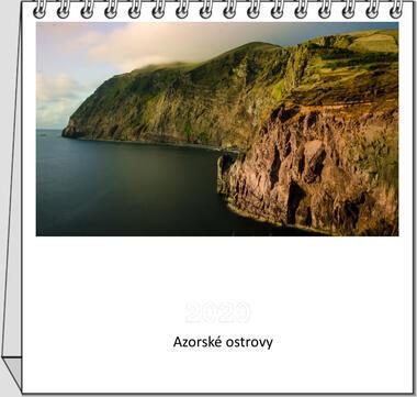 Kalendář stolní Azorské ostrovy 2021