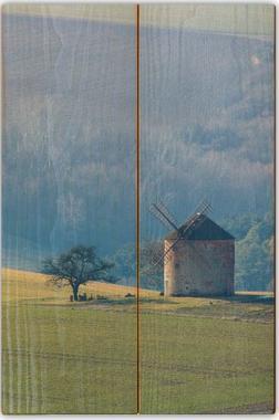 Větrný mlýn A - 20x30 - dřevo