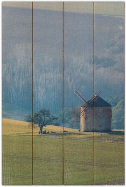 Větrný mlýn A - 40x60 - dřevo