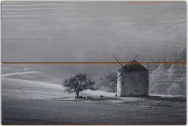 Větrný mlýn B - 20x30 - dřevo