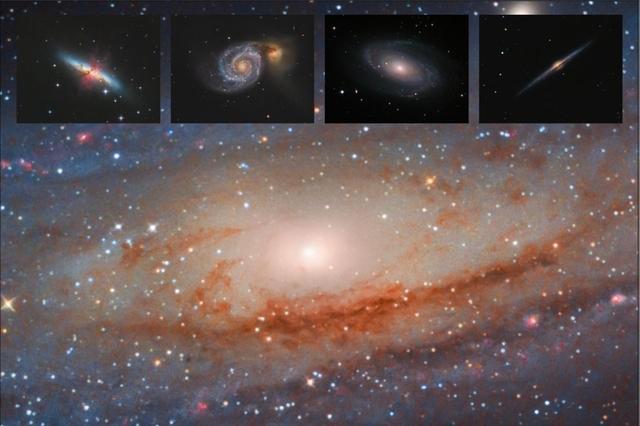Kolekce spirálních galaxií B - 60x90 - plátno