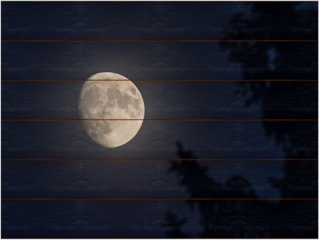 Měsíc A - 60x80 - dřevo