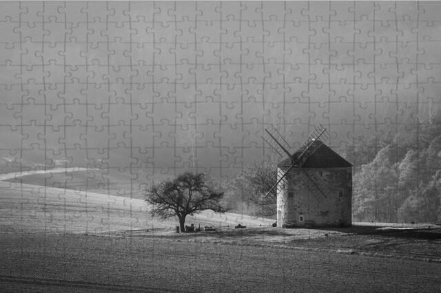 Puzzle A3 větrný mlýn B