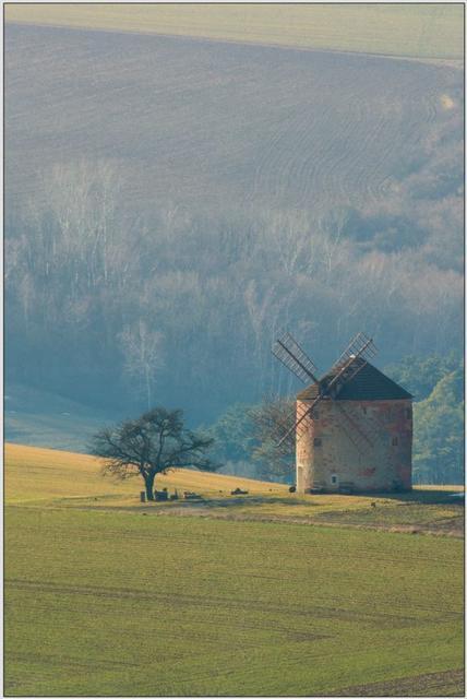 Větrný mlýn A - 60x90 - plakát