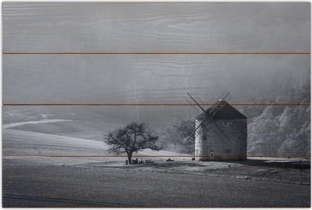 Větrný mlýn B - 40x60 - dřevo