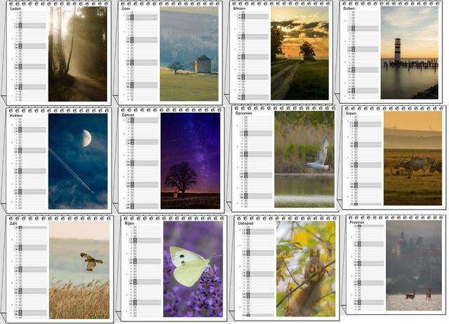 Kalendář stolní Příroda střední Evropy 2021 A - 2