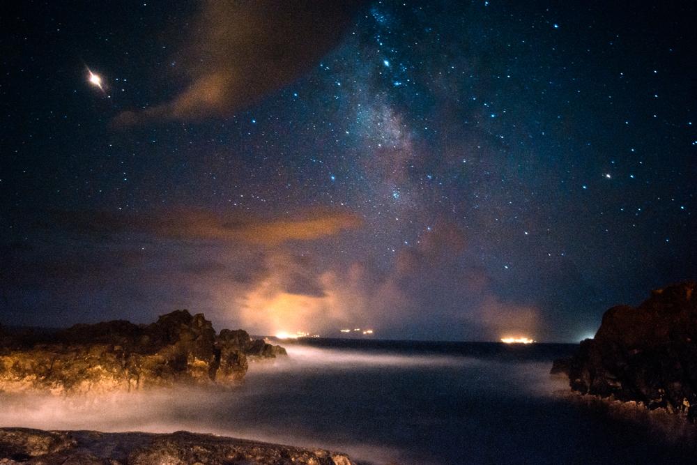Noční nebe nad Azorskými ostrovy