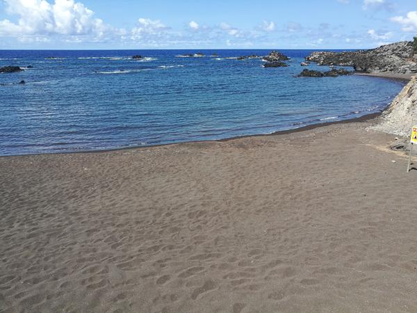Pláž na ostrově Corvo