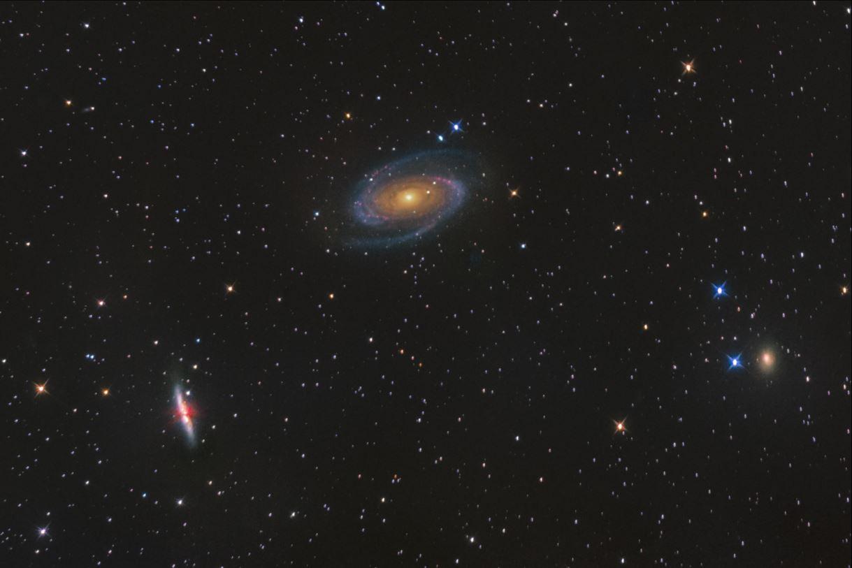Bodeho galaxie (M81) a Doutníková galaxie (M82)