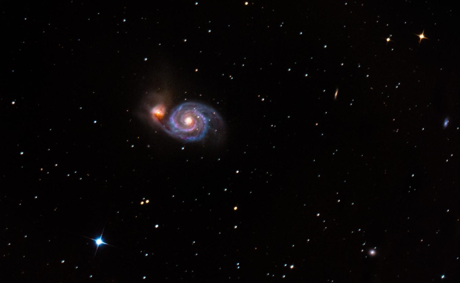 M51 - Vírová galaxie