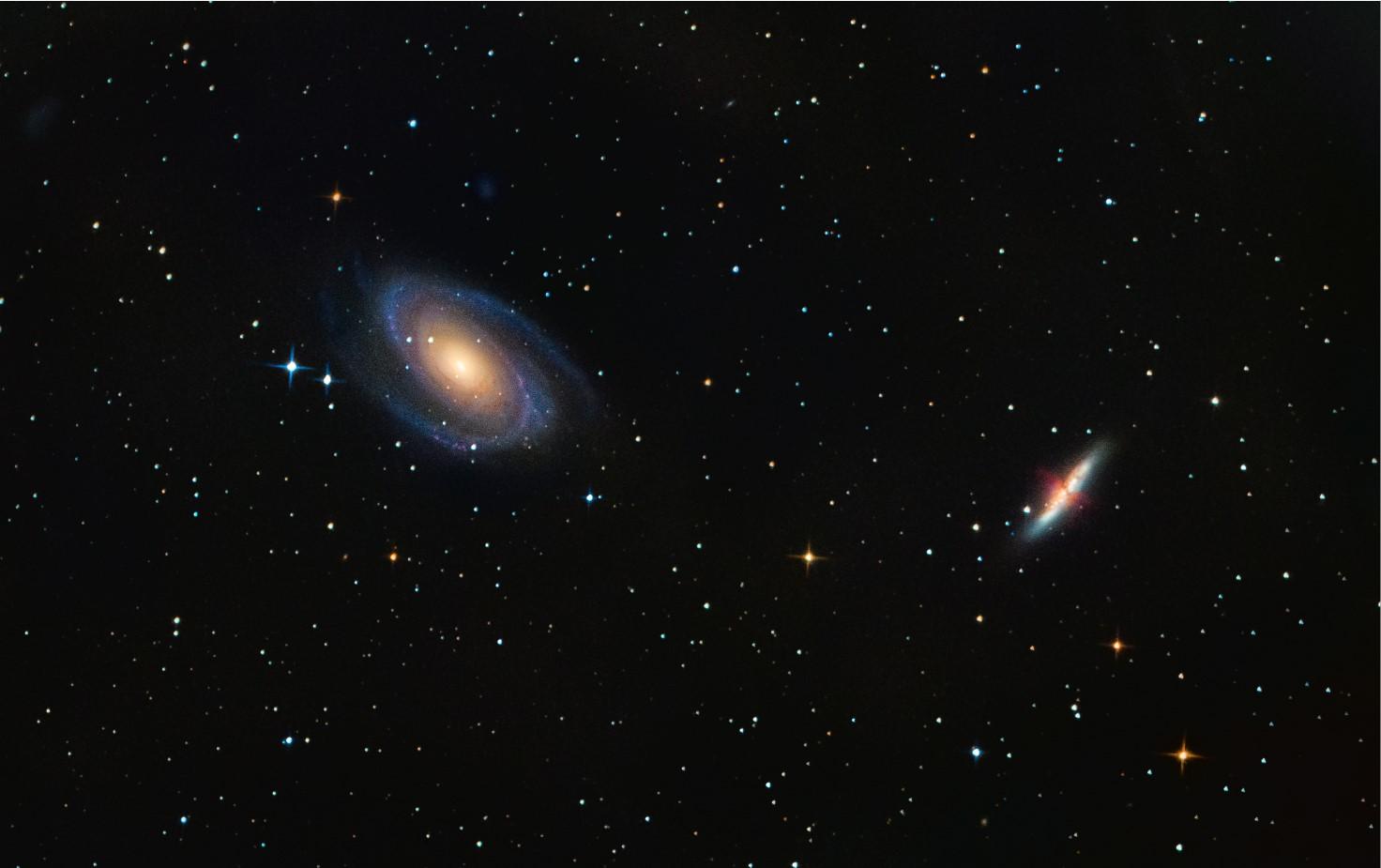 M81 a M82 galaxie